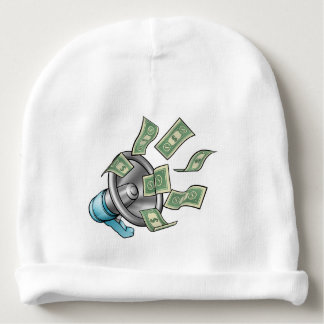 Cartoon Money Megaphone Concept Baby Beanie