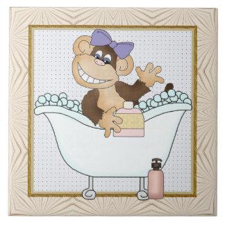 Cartoon Monkey Bathroom fun tile