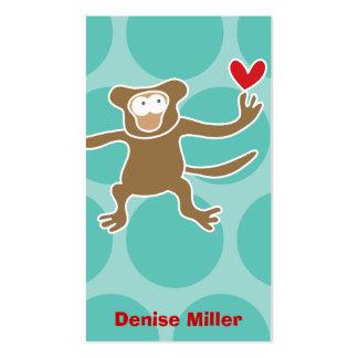 Cartoon Monkey Kid Fun Custom Photo Profile Card Business Card Template