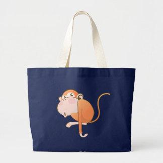 Cartoon Monkey Large Tote Bag