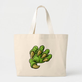Cartoon Monster Claw Large Tote Bag