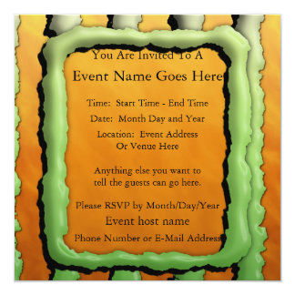 Cartoon Monster Stripes Personalized Announcements