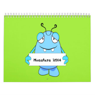 Cartoon Monsters 2014 Calendar