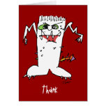 Cartoon Monsters Thank You Card