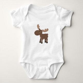 Cartoon Moose Baby Bodysuit