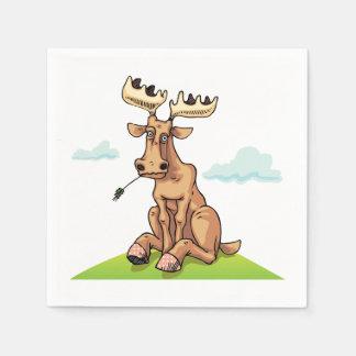 Cartoon Moose Paper Napkins
