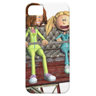 Cartoon Mother and Daughter on a Ferris Wheel iPhone 5 Covers