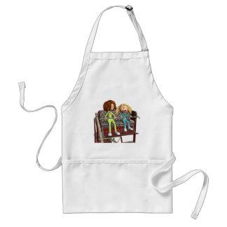 Cartoon Mother and Daughter on a Ferris Wheel Standard Apron
