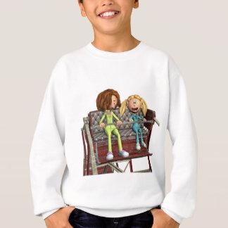 Cartoon Mother and Daughter on a Ferris Wheel Sweatshirt