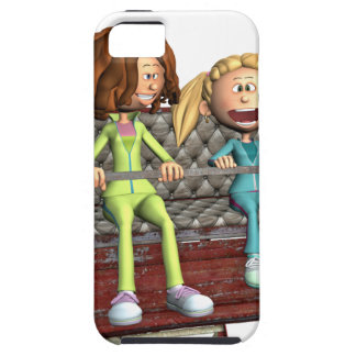 Cartoon Mother and Daughter on a Ferris Wheel Tough iPhone 5 Case