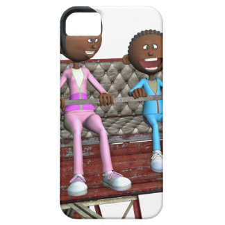 Cartoon Mother and Son on a Ferris Wheel Case For The iPhone 5