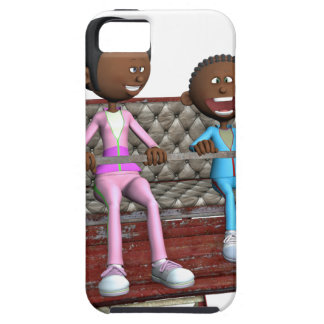 Cartoon Mother and Son on a Ferris Wheel iPhone 5 Cases