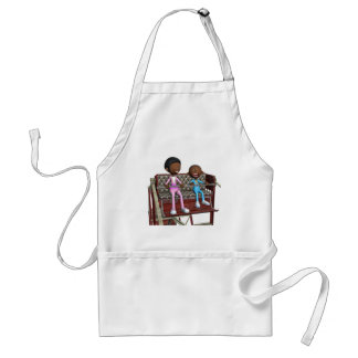 Cartoon Mother and Son on a Ferris Wheel Standard Apron