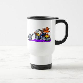 Cartoon Motorcyclist Mugs