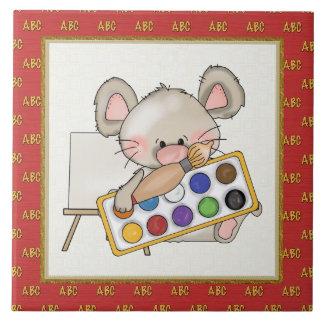 Cartoon Mouse cartoon school tile