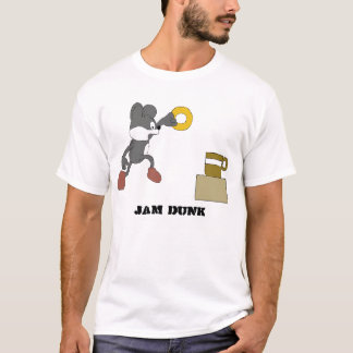 Cartoon Mouse With Coffee And Doughnut T-Shirt