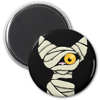 Cartoon Mummy Cat Halloween Novelty 6 Cm Round Magnet