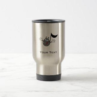 Cartoon Music Note; Grunge Background Stainless Steel Travel Mug
