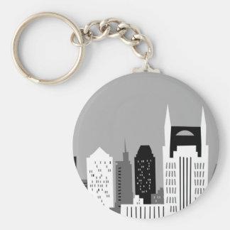 Cartoon Nashville Basic Round Button Key Ring
