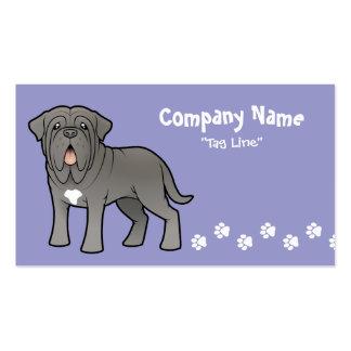 Cartoon Neapolitan Mastiff Business Card Templates