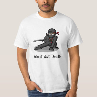 "Cartoon Ninja ""Silent But Deadly"" Tshirt"