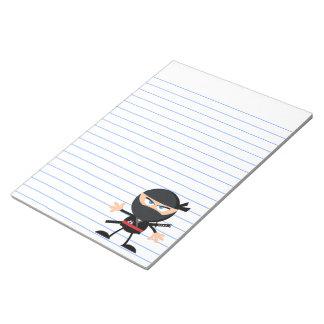 Cartoon Ninja Warrior Notepad