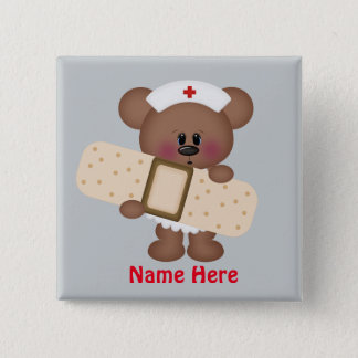 Cartoon Nurse add name button