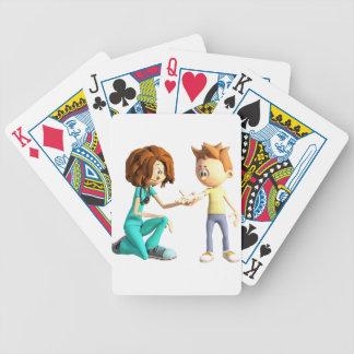 Cartoon Nurse and Little Boy Poker Deck