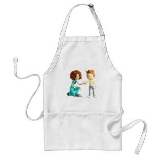 Cartoon Nurse and Little Boy Standard Apron