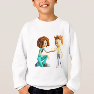 Cartoon Nurse and Little Boy Sweatshirt
