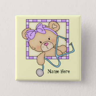 Cartoon Nurse Bear add name button