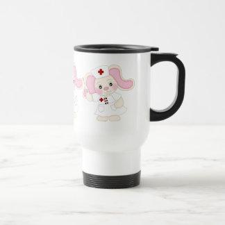 Cartoon Nurse Bunny Travel mug