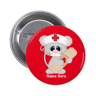 Cartoon Nurse Mouse add name button