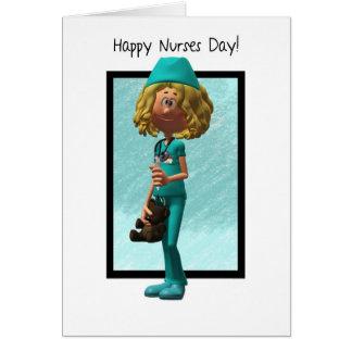 Cartoon Nurse, Nurses Day Greeting Card