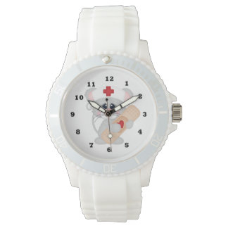 Cartoon Nurse sporty wrist watch