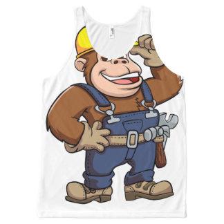Cartoon of a Gorilla Handyman All-Over Print Tank Top
