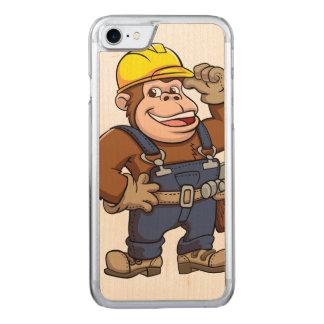 Cartoon of a Gorilla Handyman Carved iPhone 7 Case