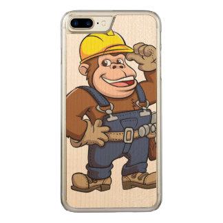 Cartoon of a Gorilla Handyman Carved iPhone 7 Plus Case