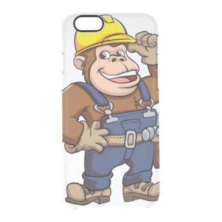 Cartoon of a Gorilla Handyman Clear iPhone 6/6S Case