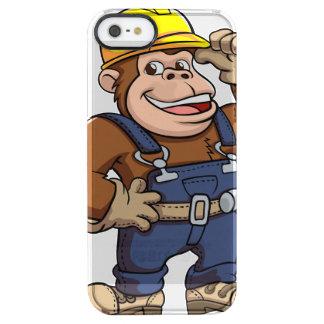 Cartoon of a Gorilla Handyman Clear iPhone SE/5/5s Case