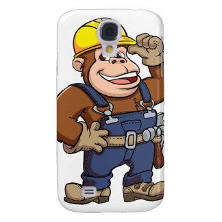 Cartoon of a Gorilla Handyman Galaxy S4 Covers
