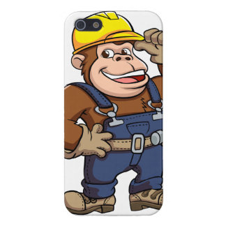 Cartoon of a Gorilla Handyman iPhone 5/5S Covers
