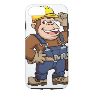 Cartoon of a Gorilla Handyman iPhone 7 Case