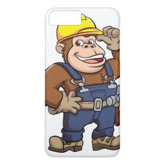 Cartoon of a Gorilla Handyman iPhone 7 Plus Case