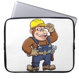 Cartoon of a Gorilla Handyman Laptop Computer Sleeve