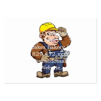 Cartoon of a Gorilla Handyman Pack Of Chubby Business Cards