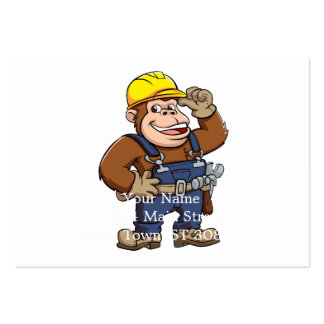 Cartoon of a Gorilla Handyman Pack Of Chubby Business Cards