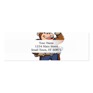 Cartoon of a Gorilla Handyman Pack Of Skinny Business Cards