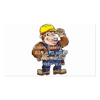 Cartoon of a Gorilla Handyman Pack Of Standard Business Cards
