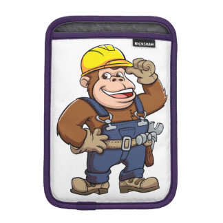Cartoon of a Gorilla Handyman Sleeve For iPad Mini